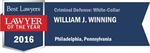 William J. Winning has earned a Lawyer of the Year award for 2016!