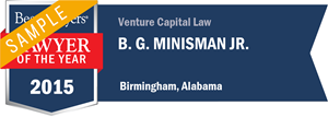 B. G. Minisman Jr. has earned a Lawyer of the Year award for 2015!