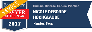 Nicole W. Deborde has earned a Lawyer of the Year award for 2017!