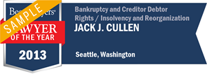 Jack J. Cullen has earned a Lawyer of the Year award for 2013!