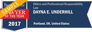 Dayna E. Underhill has earned a Lawyer of the Year award for 2017!