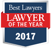 "Tatiana Emelianova was awarded 2017 ""Lawyer of the Year"" in Elasticsearch.PracticeArea"