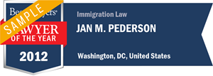 Jan M. Pederson has earned a Lawyer of the Year award for 2012!