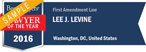 Lee J. Levine has earned a Lawyer of the Year award for 2016!