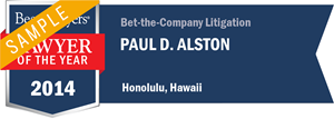 Paul D. Alston has earned a Lawyer of the Year award for 2014!