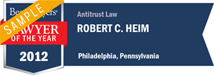 Robert C. Heim has earned a Lawyer of the Year award for 2012!