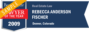 Rebecca Anderson Fischer has earned a Lawyer of the Year award for 2009!