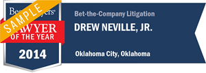 Drew Neville, Jr. has earned a Lawyer of the Year award for 2014!