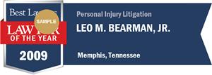 Leo M. Bearman, Jr. has earned a Lawyer of the Year award for 2009!