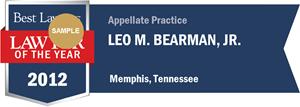 Leo M. Bearman, Jr. has earned a Lawyer of the Year award for 2012!