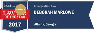 Deborah Marlowe has earned a Lawyer of the Year award for 2017!