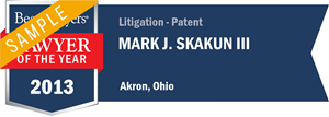 Mark J. Skakun III has earned a Lawyer of the Year award for 2013!