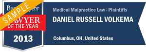 Daniel Russell Volkema has earned a Lawyer of the Year award for 2013!