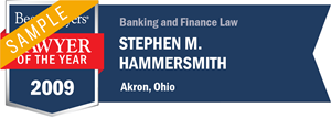 Stephen M. Hammersmith has earned a Lawyer of the Year award for 2009!