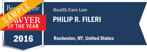 Philip R. Fileri has earned a Lawyer of the Year award for 2016!