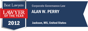 Alan W. Perry has earned a Lawyer of the Year award for 2012!