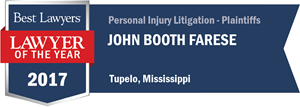 John Booth Farese has earned a Lawyer of the Year award for 2017!