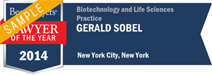Gerald Sobel has earned a Lawyer of the Year award for 2014!