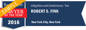 Robert S. Fink has earned a Lawyer of the Year award for 2016!