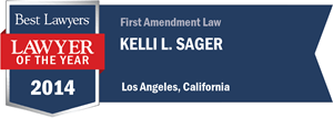 Kelli L. Sager has earned a Lawyer of the Year award for 2014!