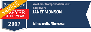 Janet Monson has earned a Lawyer of the Year award for 2017!