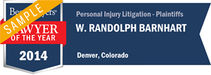 W. Randolph Barnhart has earned a Lawyer of the Year award for 2014!