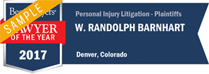 W. Randolph Barnhart has earned a Lawyer of the Year award for 2017!