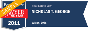 Nicholas T. George has earned a Lawyer of the Year award for 2011!