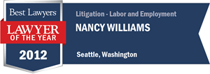Nancy Williams has earned a Lawyer of the Year award for 2012!
