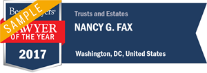 Nancy G. Fax has earned a Lawyer of the Year award for 2017!