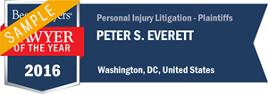 Peter S. Everett has earned a Lawyer of the Year award for 2016!