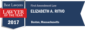 Elizabeth A. Ritvo has earned a Lawyer of the Year award for 2017!