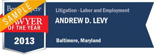 Andrew D. Levy has earned a Lawyer of the Year award for 2013!