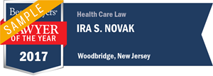 Ira S. Novak has earned a Lawyer of the Year award for 2017!