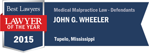 John G. Wheeler has earned a Lawyer of the Year award for 2015!