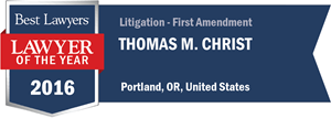 Thomas M. Christ has earned a Lawyer of the Year award for 2016!