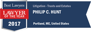 Philip C. Hunt has earned a Lawyer of the Year award for 2017!