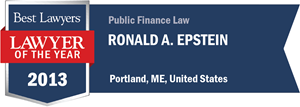 Ronald A. Epstein has earned a Lawyer of the Year award for 2013!
