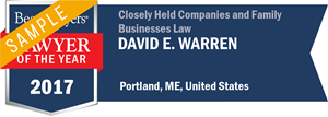 David E. Warren has earned a Lawyer of the Year award for 2017!
