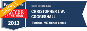 Christopher J. W. Coggeshall has earned a Lawyer of the Year award for 2013!