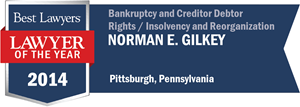 Norman E. Gilkey has earned a Lawyer of the Year award for 2014!