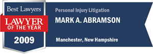 Mark A. Abramson has earned a Lawyer of the Year award for 2009!