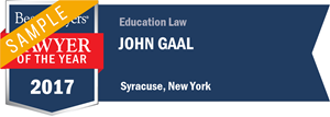 John Gaal has earned a Lawyer of the Year award for 2017!