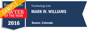 Mark W. Williams has earned a Lawyer of the Year award for 2016!