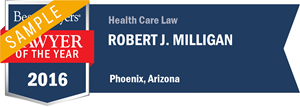Robert J. Milligan has earned a Lawyer of the Year award for 2016!