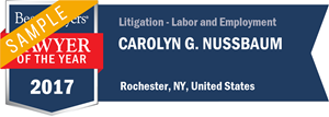 Carolyn G. Nussbaum has earned a Lawyer of the Year award for 2017!