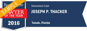 Joseph Thacker has earned a Lawyer of the Year award for 2016!