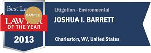 Joshua I. Barrett has earned a Lawyer of the Year award for 2013!