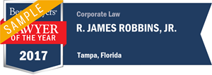 R. James Robbins, Jr. has earned a Lawyer of the Year award for 2017!