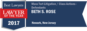 Beth S. Rose has earned a Lawyer of the Year award for 2017!